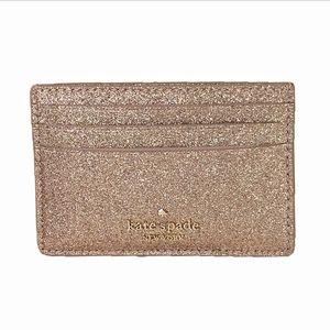 NWOT Kate Spade Joeley Rose Gold Card Case Wallet